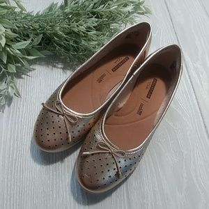 Collection by Clarks Soft cushion gold flats
